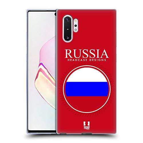 Head Hülle Designs Fahne Russlands Fahne Flicken 2 Soft Gel Handyhülle Hülle kompatibel mit Samsung Galaxy Note10+