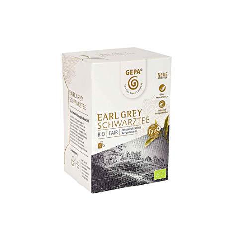GEPA - Schwarztee Earl Grey aromatisiert - Aufgussbeutel, Schwarzteespezialität mit natürlichem Aroma - 20 x1,7g - DE-ÖKO-005