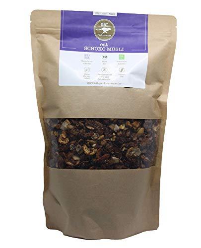 eat Performance® Schoko Müsli (1000g) - Bio, Paleo, Vegan, Glutenfrei, Ohne Zuckerzusatz, Granola Aus 100% Natürlichen Zutaten