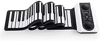 JJSFJH Digital Piano Hand Roll Electronic Piano Portable 88 Key Beginner Adult Home Keyboard Professional Thickening Versi...