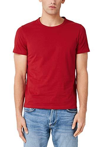 s.Oliver Herren 13.909.32.5225 T-Shirt, Rot (Uniform Red 3660), Large (Herstellergröße: L)