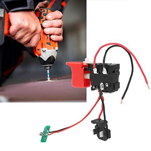 Interruptor de gatillo de taladro, DCJZ1201 Interruptor de taladro de carga, Interruptor de taladro eléctrico manual Accesorios Interruptor de microherramienta eléctrica, con botón de gatillo de contr