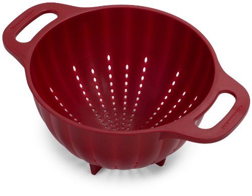 KitchenAid Plastic Colander/Strainer, 5-Quart, Red - KC166OSERA
