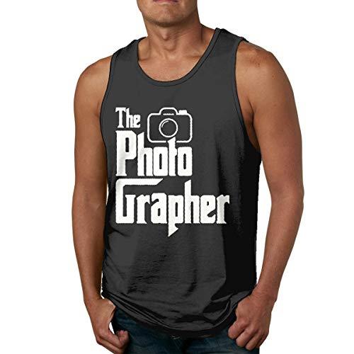 HJYR The Photographer Mens Casual Sports Camiseta sin Mangas
