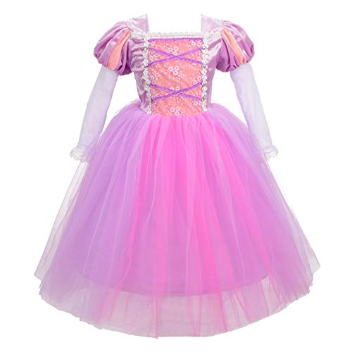 Lito Angels Ragazza Abito Principessa Rapunzel Costumes Festa di Fantasia Coda Fata Vestirsi Taglia 9-10 Anni