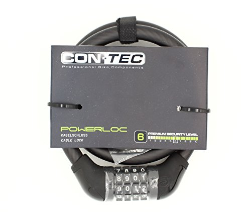 CONTEC Unisex– Erwachsene PowerLoc Schloss, schwarz, 85 cm