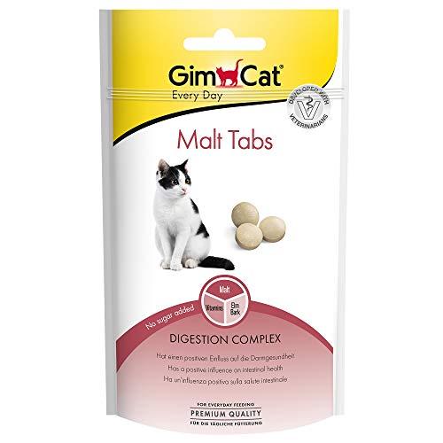 GimCat Malt Tabs - Funktionaler Katzensnack mit positivem Einfluss auf die Darmgesundheit - 1 Beutel (1 x 40 g)