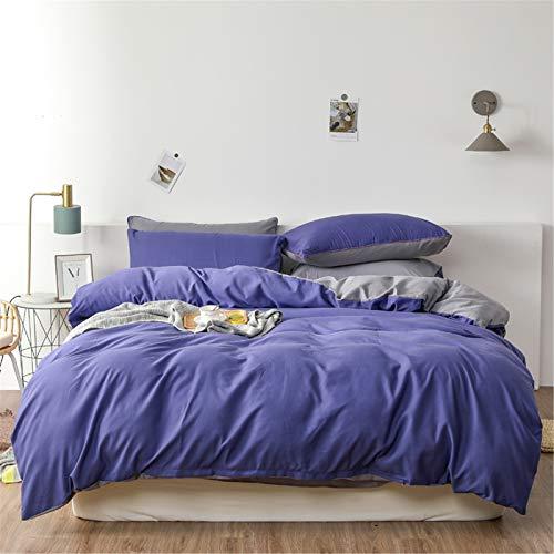YYSZM Textiles para El Hogar Funda Nórdica Ropa De Cama Atmósfera De Color Sólido Simple Moda Juego De 4 Piezas Hipoalergénico Agradable para La Piel 150x200cm