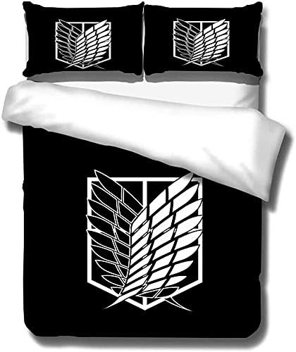 Set Biancheria da Letto Copripiumino Attacco alle ali giganti della libertà Morbido Microfibra con Chiusura A Cerniera Set Copripiumino 1 copripiumino(135cm x 200cm)+ 1 federe(50cm x 75cm)