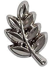 Gloves4Masons Pin de solapa de hoja de acacia masónica, tamaño aproximado = 13 mm x 8 mm, LP-17