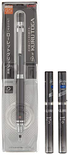 Uni Mechanical Pencil Kuru Toga Roulette Model 0.5mm Gun Metallic (M510171P.43) + Lead 2 Set (Pencil : Lead : U05203HB.24)