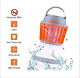 acetek Mosquito Killer Lamp 2 in 1 Camping Lantern Lights Bug Zapper Mosquito Repellent Outdoor Lantern Lights USB Charging UV IP67 Waterproof Bulb