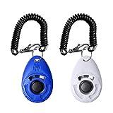 kuou 2Pcs Dog Clicker, Dog Training Clickers Pet Training Clickers Training Tool