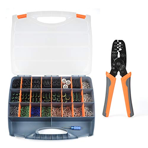 IWISS Weather Pack Tool Kit with Crimper and Removal Tool, includes 1-6 Way Sealed Waterproof Electrical Open Barrel Contacts for 20-12 Gauge
