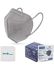 25 st. FFP2 Masker + Antiseptisch Omhulsel + verstellers | CN Ultra Protection, CE-goedgekeurd | wegwerp - niet herbruikbaar | 5 lagen, volwassen maat, verschillende kleuren