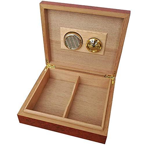 Putuio Zigarren Humidor Tisch Zedernholz Zigarren Humidor mit magnetischem Luftbefeuchter Hygrometer Zigarre Aufbewahrungsbox ca. 240 x 210 x 55 mm