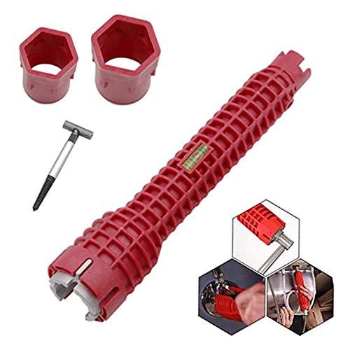 Llave de grifo 8 en 1, herramienta multifunción para fontaneros y dueños de la casa