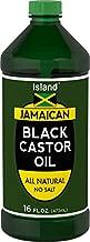 Island Jamaican Black Castor Oil For Hair Growth | 16 oz | Huge Size, All Natural