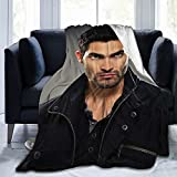 Tyler Hoechlin Derek Hale Soft and Comfortable Wool Fleece Throw Blankets Yoga Blanket Beach Blanket Suitable for Home and Tourist Camping