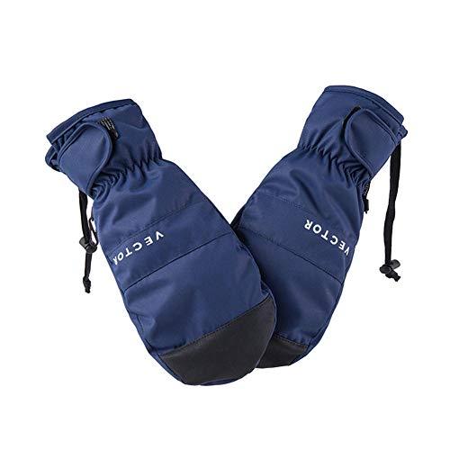 Cxry-Kit 2 En 1 Mitones Guantes De Esquí Snowboard Hombres Mujeres Nieve Deporte De Invierno Aislamiento SintéTico CáLido Impermeable A Prueba De Viento Esquí Pesca-Azul_Metro