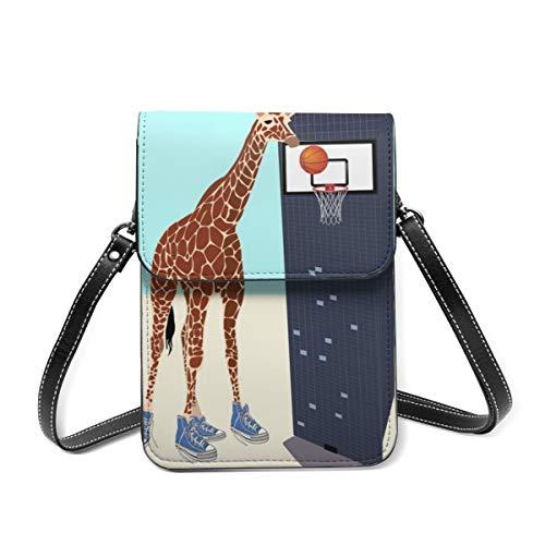 Monedero para teléfono celular, nuevo jugador de baloncesto en el barrio pequeño Crossbody Bag Mini teléfono celular bolsa pasaporte monedero con correa ajustable para el hombro