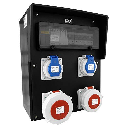 Baustromverteiler Vollgummi HD-S 32A/5P 16A/5P 2x230V IP67 Stromverteiler Doktorvolt® 9542