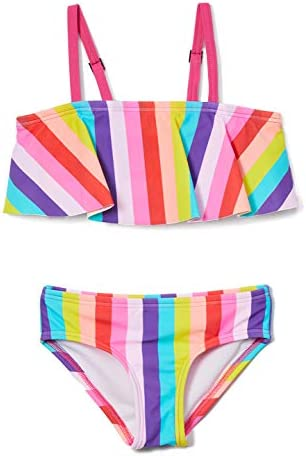 Kanu Surf Girls Karlie Flounce Bikini Beach Sport 2 Piece Swimsuit Vera Multi 6 product image