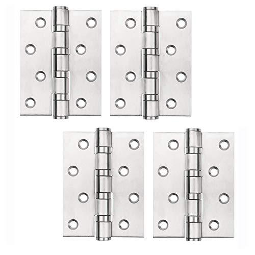 4 piezas Bisagra para Puerta de Acero Inoxidable, Reemplazo de la Bisagra de la Puerta de Bisagra Rodamiento de Bolitas Bisagra Pesada Accesorios de Hardware para Muebles Puertas y Ventanas