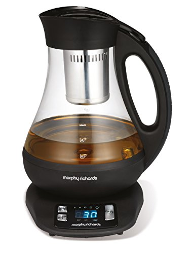 Morphy Richards Teekocher 43970, 2200, Glass, 1 Liter, schwarz/transparent