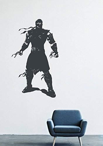 Wall Decals Decor Viny Sub-Zero Mortal Kombat Frost Fighter Warrior Costume Mask LM0027