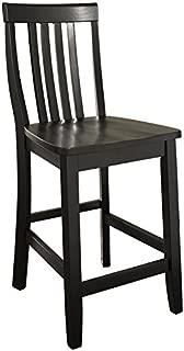 Crosley Furniture Schoolhouse Bar Stool (Set of 2), 24-inch, Black