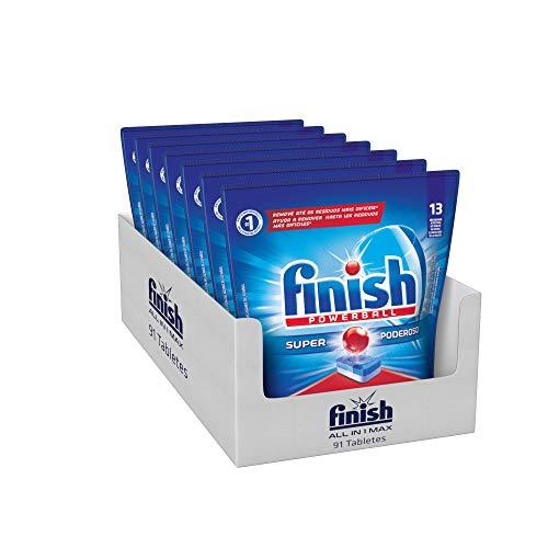 Detergente para Lava Louças em tabletes Finish Embalagem Econômica com 91 tabletes Powerball