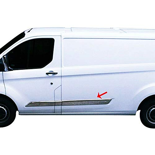 Protector de moldura para puerta lateral de acero inoxidable cromado de TRANSIT CUSTOM Tourneo 2012UP 5 piezas