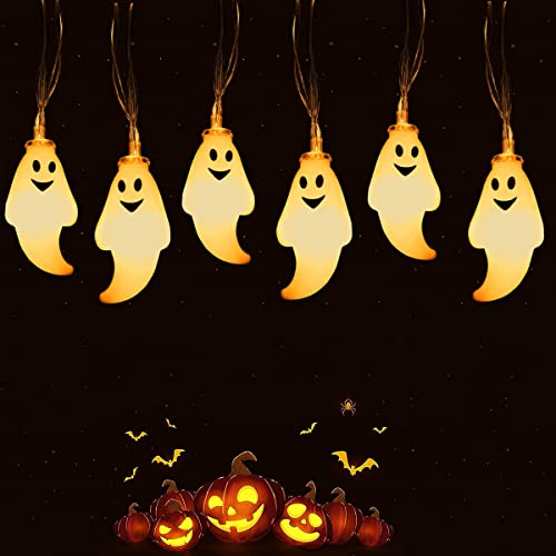 Luci Halloween,Halloween Decorazioni di Luci Stringa 1 Pezzi,Luci Stringa di Fantasmi 20 LED 3M,Luci Stringa Halloween, Fata Luce Della Stringa,Halloween decorazioni casa,per Halloween Natale Festa