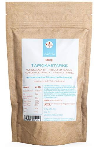 Tapiokastärke (1000g) vegan, glutenfrei, im Standbodenbeutel von Kaona