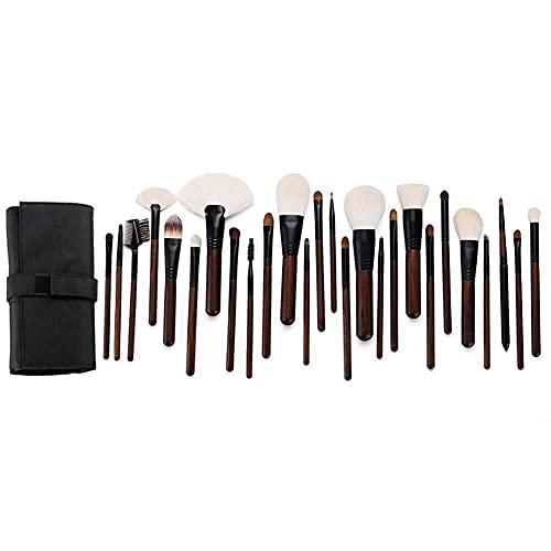 DPLIU Pincel de maquillaje Set-26 Conjuntos de cepillos de maquillaje Conjunto completo de herramientas de maquillaje para artistas de maquillaje Manija profesional Fundación Sintética Premium Blush C