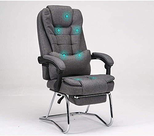 Rollsnownow Massage Bürostuhl Ergonomischer Bürostuhl Günstige Schreibtisch Stuhl mit Lordosenstütze Flip Up Arme Kopfstütze PU-Leder-Vorstand High Back Computer Stuhl for Erwachsene Frauen Männer ses
