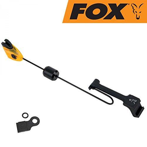 FOX MK3 Swinger Bissanzeiger - Pedelbissanzeiger zum Karpfenangeln, Farben wahlweise: rot, grün, orange, blau oder schwarz, verschiebbares Gewicht & einfach Montage!, Farbe:Orange by Fox
