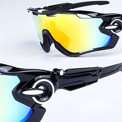 TATANE Marco De Gafas De Sol Deportivas Gafas Ciclismo TR90 Superlight Polarizado con 5 Lentes Intercambiables para Mujeres De Los Hombres Al Aire Libre del Golf del Deporte del Esquí,6