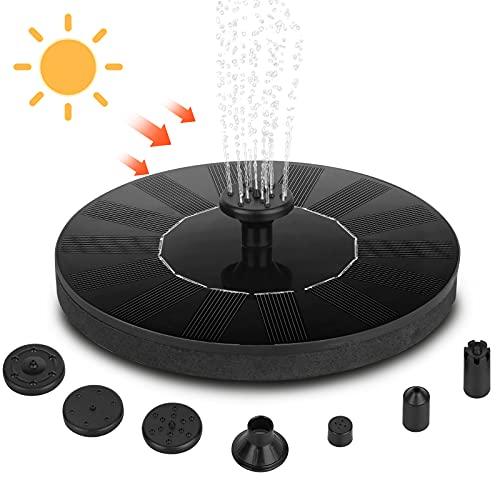 Fuente Solar Estanque Flotante Sendowtek Solar Fuente Bomba para Pajaros Utilizado...
