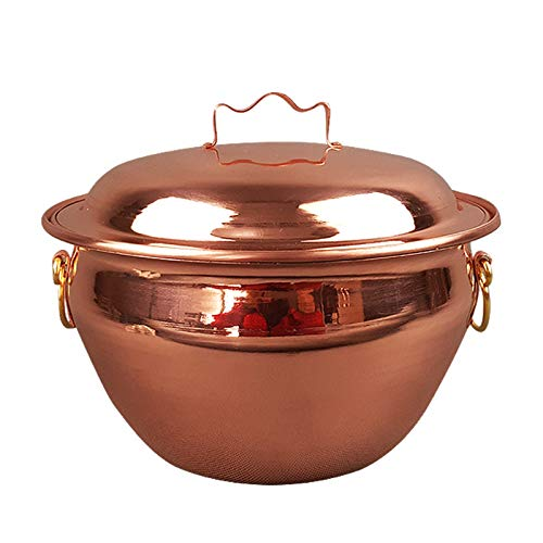 Gulaschkessel aus reinem Kupfer, Kupferkessel, Braten Medizin Topf, Suppentopf, Kupfertopf, Dicker Kupfertopf, Kupfer Vertiefung Hot Pot