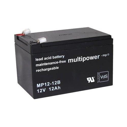 Akku MP12-12 Blei Gel Accu 12V 12Ah AGM Technik Elektroauto Hummer Jeep Kinderauto Peg-Perego JOHN GATOR HPX NP12-12 VISION 6-FM-12 6-DZM-12 Robomow RM200 Rasenmäher Remco RM12-12DC Battery Bateria Batterie