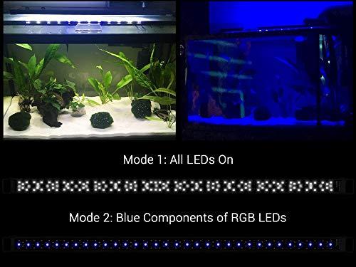 NICREW SkyLED Aquarium Light for Planted Tanks, Full Spectrum LED Fish Tank Light, 48 to 54-Inch, 32-Watt