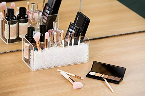 J JACKCUBE DESIGN JackCubeDesign MK481A - Acryl Make-up Brush Organizer (Clear Pearl)