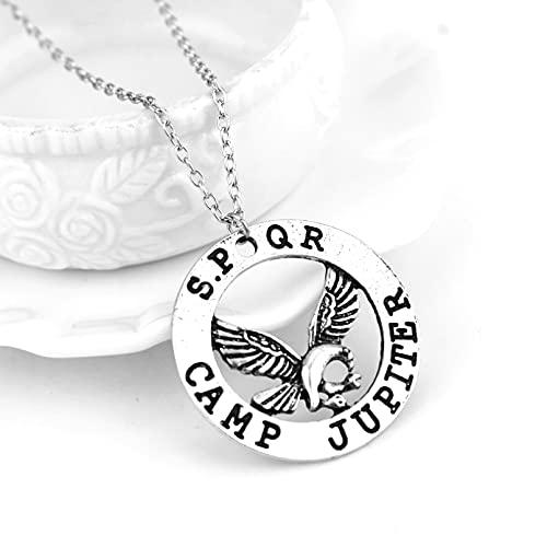 N/A Collar Película Percy Jackson Camp Half Blood Fly Horse Collar y Colgante Fan Regalo Películas Collar de joyería