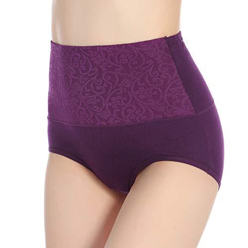 HUABEI Postpartum High Waist Briefs Women's Underwear Cotton Large Size Cotton Underwear Ladies Sexy briefsA-1purpleA-1XXXXL MYJ