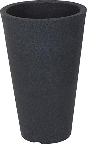 Spetebo XXL Pflanzsäule anthrazit konisch - 70x40 cm - Kunststoff Blumenkübel Pflanzkübel Blumentopf groß