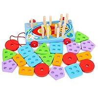 子供の形のマッチングブロック教育玩具ベビーインテリジェンス開発モンテッソーリ幼児教育援助1~3年