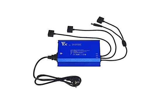 Yangers DJI Inspire 1 Ladegerät, Smart Multi Akku Rapid Balance Ladegerät für 3 Akkus parallel, Fernbedienung Controller-Ladegerät