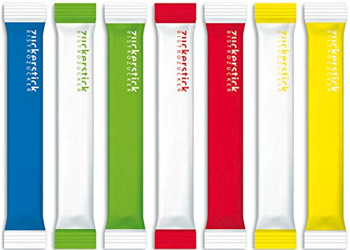 Zuckersticks Sunrise 1000 x 4g | Nachhaltige Verpackung | Natürlich nachhaltiger Markenzucker aus deutschem Zuckerrübenanbau